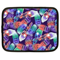 Bird Feathers Color Rainbow Animals Fly Netbook Case (xl)  by Mariart
