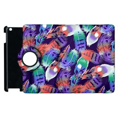 Bird Feathers Color Rainbow Animals Fly Apple Ipad 2 Flip 360 Case by Mariart