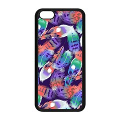 Bird Feathers Color Rainbow Animals Fly Apple Iphone 5c Seamless Case (black) by Mariart