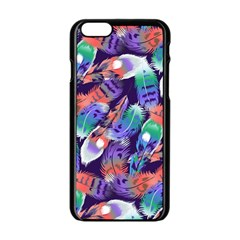 Bird Feathers Color Rainbow Animals Fly Apple Iphone 6/6s Black Enamel Case by Mariart