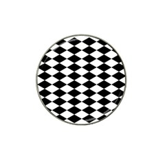 Diamond Black White Plaid Chevron Hat Clip Ball Marker (4 Pack) by Mariart