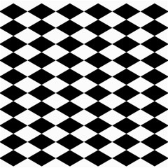 Diamond Black White Plaid Chevron Canvas 16  X 16   by Mariart