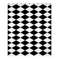 Diamond Black White Plaid Chevron Shower Curtain 60  X 72  (medium)  by Mariart
