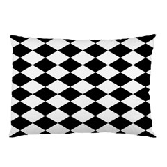 Diamond Black White Plaid Chevron Pillow Case (two Sides) by Mariart