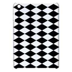 Diamond Black White Plaid Chevron Apple Ipad Mini Hardshell Case by Mariart
