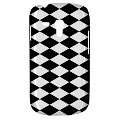 Diamond Black White Plaid Chevron Galaxy S3 Mini by Mariart
