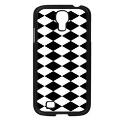 Diamond Black White Plaid Chevron Samsung Galaxy S4 I9500/ I9505 Case (black)