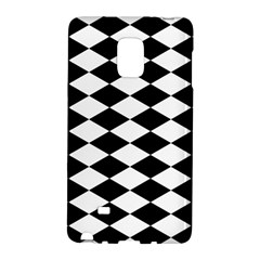 Diamond Black White Plaid Chevron Galaxy Note Edge by Mariart