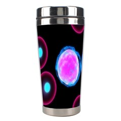 Cell Egg Circle Round Polka Red Purple Blue Light Black Stainless Steel Travel Tumblers by Mariart