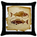 Pisces2637434 Throw Pillow Case (Black)