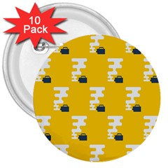 Fog Machine Fogging White Smoke Yellow 3  Buttons (10 Pack)  by Mariart