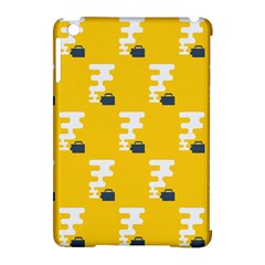 Fog Machine Fogging White Smoke Yellow Apple Ipad Mini Hardshell Case (compatible With Smart Cover) by Mariart