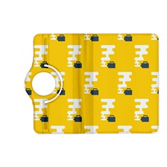 Fog Machine Fogging White Smoke Yellow Kindle Fire Hd (2013) Flip 360 Case by Mariart