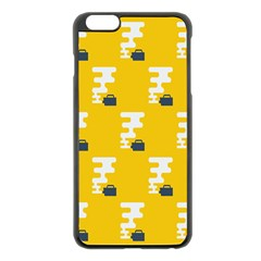 Fog Machine Fogging White Smoke Yellow Apple Iphone 6 Plus/6s Plus Black Enamel Case by Mariart