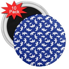 Birds Silhouette Pattern 3  Magnets (10 Pack)  by dflcprintsclothing