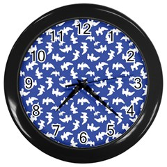 Birds Silhouette Pattern Wall Clocks (black)