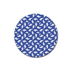 Birds Silhouette Pattern Magnet 3  (round) by dflcprintsclothing