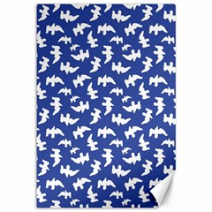 Birds Silhouette Pattern Canvas 12  X 18