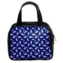 Birds Silhouette Pattern Classic Handbags (2 Sides)