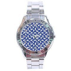 Birds Silhouette Pattern Stainless Steel Analogue Watch