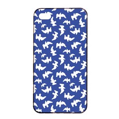 Birds Silhouette Pattern Apple Iphone 4/4s Seamless Case (black) by dflcprintsclothing