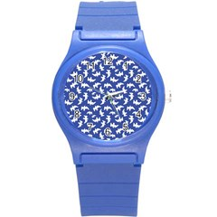 Birds Silhouette Pattern Round Plastic Sport Watch (s) by dflcprintsclothing