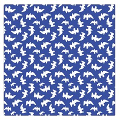 Birds Silhouette Pattern Large Satin Scarf (square)