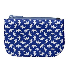 Birds Silhouette Pattern Large Coin Purse