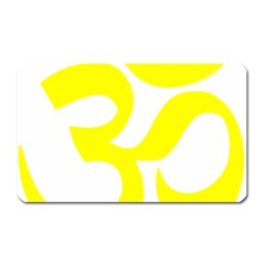 Hindu Om Symbol (maze Yellow) Magnet (rectangular) by abbeyz71