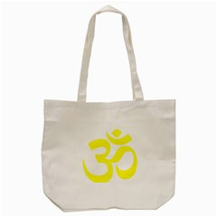Hindu Om Symbol (maze Yellow) Tote Bag (cream) by abbeyz71