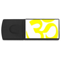 Hindu Om Symbol (maze Yellow) Usb Flash Drive Rectangular (4 Gb) by abbeyz71