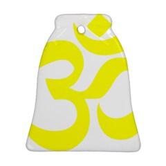Hindu Om Symbol (maze Yellow) Ornament (bell) by abbeyz71