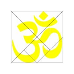 Hindu Om Symbol (maze Yellow) Acrylic Tangram Puzzle (4  X 4 ) by abbeyz71