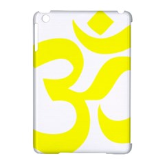 Hindu Om Symbol (maze Yellow) Apple Ipad Mini Hardshell Case (compatible With Smart Cover) by abbeyz71
