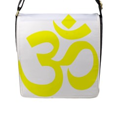Hindu Om Symbol (maze Yellow) Flap Messenger Bag (l)  by abbeyz71