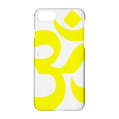 Hindu Om Symbol (maze Yellow) Apple Iphone 7 Hardshell Case by abbeyz71