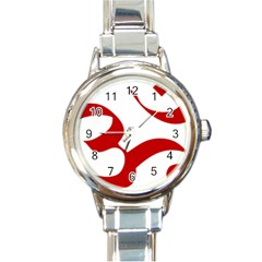 Hindu Om Symbol (red) Round Italian Charm Watch by abbeyz71