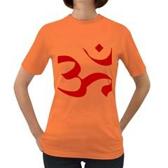 Hindu Om Symbol (red) Women s Dark T Shirt by abbeyz71