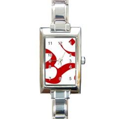 Hindu Om Symbol (red) Rectangle Italian Charm Watch by abbeyz71