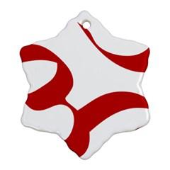Hindu Om Symbol (red) Ornament (snowflake) by abbeyz71