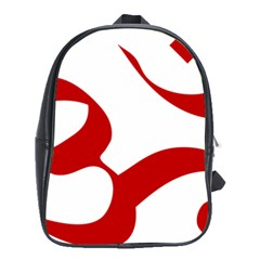 Hindu Om Symbol (red) School Bags (xl)  by abbeyz71