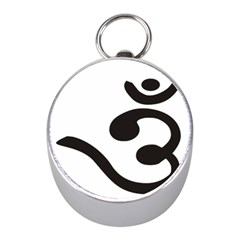 Bengali Om Symbol  Mini Silver Compasses by abbeyz71