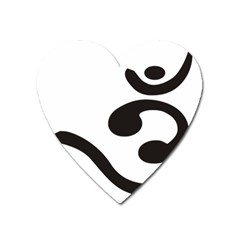 Bengali Om Symbol Heart Magnet by abbeyz71