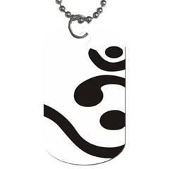 Bengali Om Symbol Dog Tag (one Side) by abbeyz71