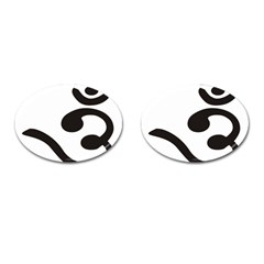 Bengali Om Symbol Cufflinks (oval) by abbeyz71