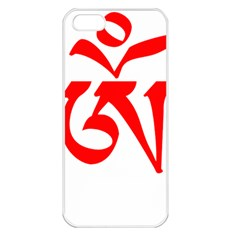 Tibetan Om Symbol (red) Apple Iphone 5 Seamless Case (white) by abbeyz71