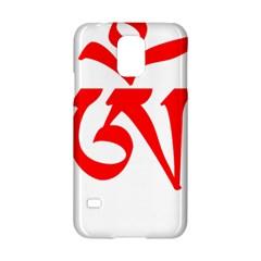 Tibetan Om Symbol (red) Samsung Galaxy S5 Hardshell Case  by abbeyz71