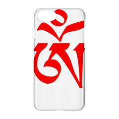 Tibetan Om Symbol (red) Apple Iphone 7 Hardshell Case by abbeyz71