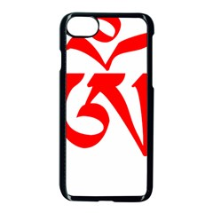 Tibetan Om Symbol (red) Apple Iphone 7 Seamless Case (black) by abbeyz71