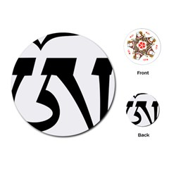 Tibetan Om Symbol (black) Playing Cards (round)  by abbeyz71